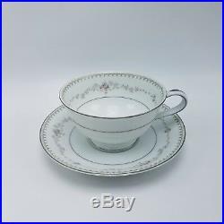 NORITAKE Footed Teacup & Saucer Fine China 24 Piece Set Serves 12 FAIRMONT JAPAN
