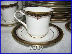 NORITAKE Gold and Sable Set of 6 Bone China 5 piece place settings 32 pieces