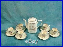 NORITAKE IMPERIAL GARDEN Bone China Coffee/Tea Set Large Pot VINTAGE