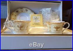 NORITAKE IMPERIAL SUITE Bone China two teacup saucer set 9984 NIB