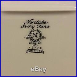 NORITAKE IVORY CHINA CORNELIA 7572N SERVING SET of 6 Pieces