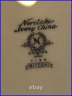 NORITAKE IVORY CHINA MIYOSHI FOUR PLACE SETTINGS / 20PCS (2 Sets avail)