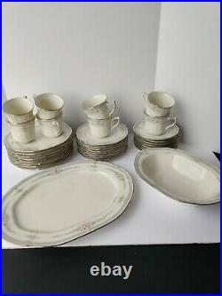 NORITAKE Ivory china 7293 ROTHSCHILD Philippines 34 piece SET for 8