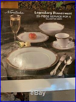 NORITAKE Porcelain China Ellington 3691 20 Pieces 4 X 5 Pc Place Settings NEW