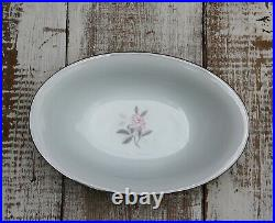 NORITAKE- Rosales 6 Pc China Creamer Gravy Boat Serving Set Vegetable Bowl Plate