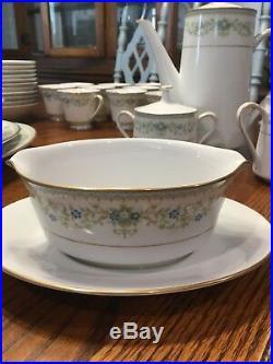 NORITAKE SPRING MEADOW CHINA (84pc) 12 Settings Hostess Serving Set Tea Pot