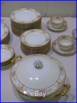 NORITAKE Topaze Vintage 80 Piece Fine China Set Rare
