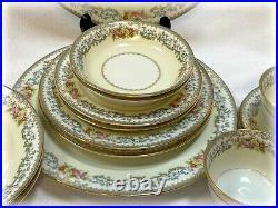 NORITAKE Woodmere China Dinnerware Service / 2 Place Settings 14 Pc Pattern 662