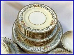 NORITAKE Woodmere China Dinnerware Service / 6 Place Settings 42 Pc Pattern 662