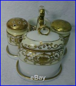 NORITAKE china 16034/175 CHRISTMAS BALL 6-piece Condiment Set solid top shakers