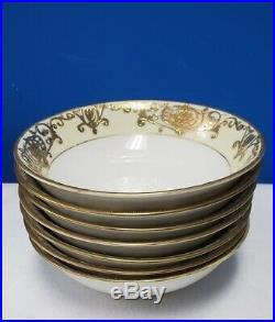 NORITAKE china 16034/175 CHRISTMAS BALL pattern Cereal Bowl Set of 7, 5-3/4