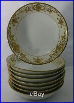 NORITAKE china 16034/175 CHRISTMAS BALL pattern Cereal Bowl Set of 8 6