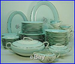 NORITAKE china 5571 pattern 84-pc SET SERVICE for 10 +/- with 7-pc Serving