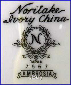 NORITAKE china AMBROSIA 7567 pattern 8-piece HOSTESS SERVING Set