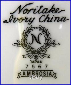 NORITAKE china AMBROSIA 7567 pattern FRUIT Dessert Sauce BERRY BOWL set of 12
