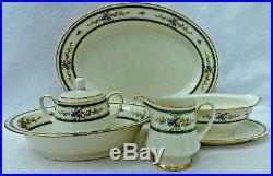 NORITAKE china AMENITY 7228 pattern 6-piece HOSTESS SET oval bowl platter gravy+