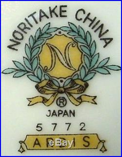 NORITAKE china ARDIS 5772 74-piece SET SERVICE for Twelve (less 2 dinner plates)