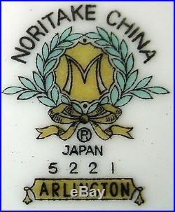 NORITAKE china ARLINGTON 5221 pattern 8-pc HOSTESS SERVING Set