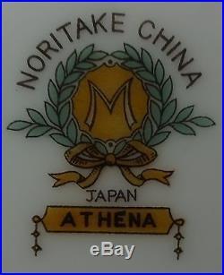 NORITAKE china ATHENA pattern 83-piece SET SERVICE