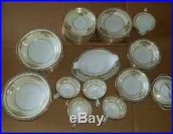 NORITAKE china BANCROFT 5481 pattern 58-pc SET SERVICE