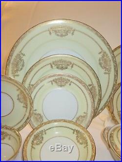 NORITAKE china BANCROFT 5481 pattern 91-piece SET SERVICE