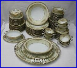 NORITAKE china BANCROFT 5481 pattern 92-piece SET SERVICE for 12 + 8 Serving Pcs