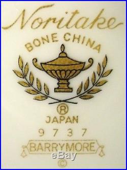 NORITAKE china BARRYMORE 9737 pattern 40-pc SET SERVICE for EIGHT (8)