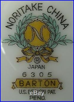 NORITAKE china BARTON 6305 pattern 9-piece HOSTESS SERVING Set