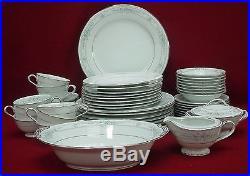 NORITAKE china BELLFLEUR 6105 pattern 52-piece SET SERVICE for 8 incl serving