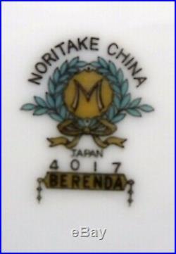 NORITAKE china BERENDA 4017 pattern 37pc Lot/Set cup/dinner/bread/fruit/gravy
