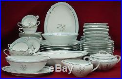NORITAKE china BLUEBELL 5558 pattern 80+ piece SET SERVICE including SERVING
