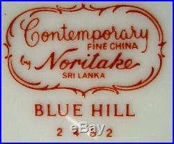 NORITAKE china BLUE HILL 2482 PATTERN 85-piece SET SERVICE for 12