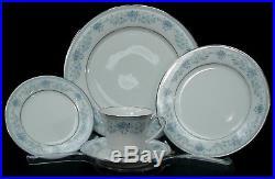 NORITAKE china BLUE HILL pattern 65-pc SET SERVICE for 12 + 5-pc SERVING