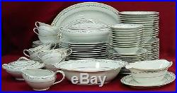 NORITAKE china BREWSTER 5645 pattern 90-pc SET SERVICE for 12 including SERVING