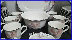 NORITAKE china CAFE DU SOIR pattern 66 piece SET PLUS MORE! MUST SEE