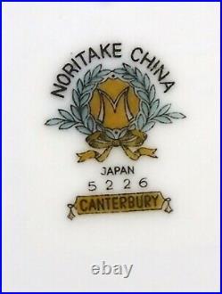 NORITAKE china CANTERBURY 5226 pattern 5-piece HOSTESS Serving Piece SET