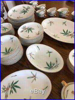 NORITAKE china CANTON 5027 pattern 96 pc Set cup/dinner/salad/bread/fruit/soup
