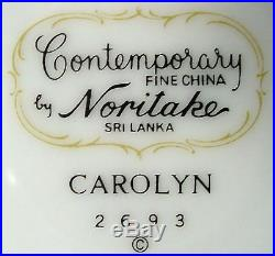 NORITAKE china CAROLYN 2693 pattern 46-piece SET SERVICE for 8 +/- incl serving