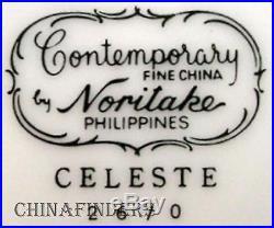 NORITAKE china CELESTE 2670 pattern 45-piece SET SERVICE for Eight (8)