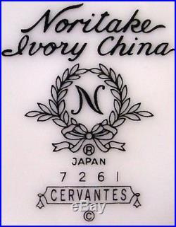 NORITAKE china CERVANTES 7261pattern 60-piece SET SERVICE for Twelve (12)