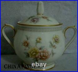 NORITAKE china CERVANTES 7261pattern Creamer Sugar Bowl Oval Bowl & Platter SET