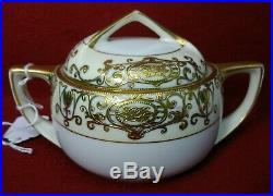 NORITAKE china CHRISTMAS BALL 16034 175 5-piece TEA SET Teapot Creamer Sugar