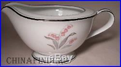 NORITAKE china CREST 5421 pattern 9pc Hostess Set creamer/sugar/serving/platter
