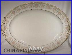 NORITAKE china CROYDON 5908 pttrn 6pc Hostess/Serving Set creamer/sugar/platter