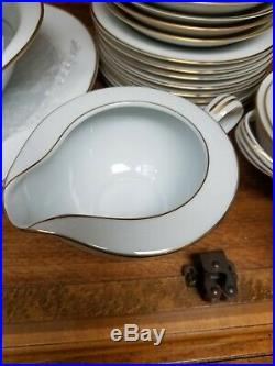 NORITAKE china DAWN 5930 pattern 50-piece SET SERVICE for 8- Serving dish cups