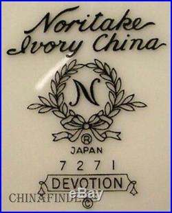 NORITAKE china DEVOTION 7271 pattern 65-piece SET SERVICE for Twelve (12)