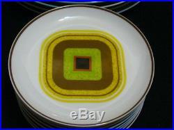 NORITAKE china DIAMOND HEAD 2236 pattern 43-piece SET SERVICE for 8 ART DECO