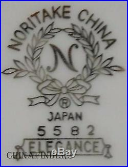 NORITAKE china ELEGANCE 5582 pattern 40-piece SET SERVICE for Seven (7)