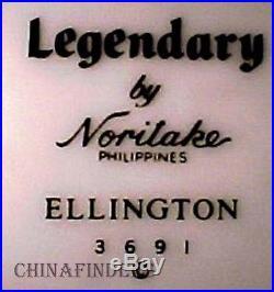 NORITAKE china ELLINGTON 3691 pattern 47-pc SET SERICE for 8+
