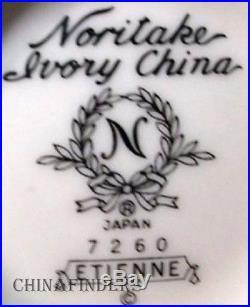 NORITAKE china ETIENNE 7260 pattern 60-piece SET SERVICE for Twelve (12)